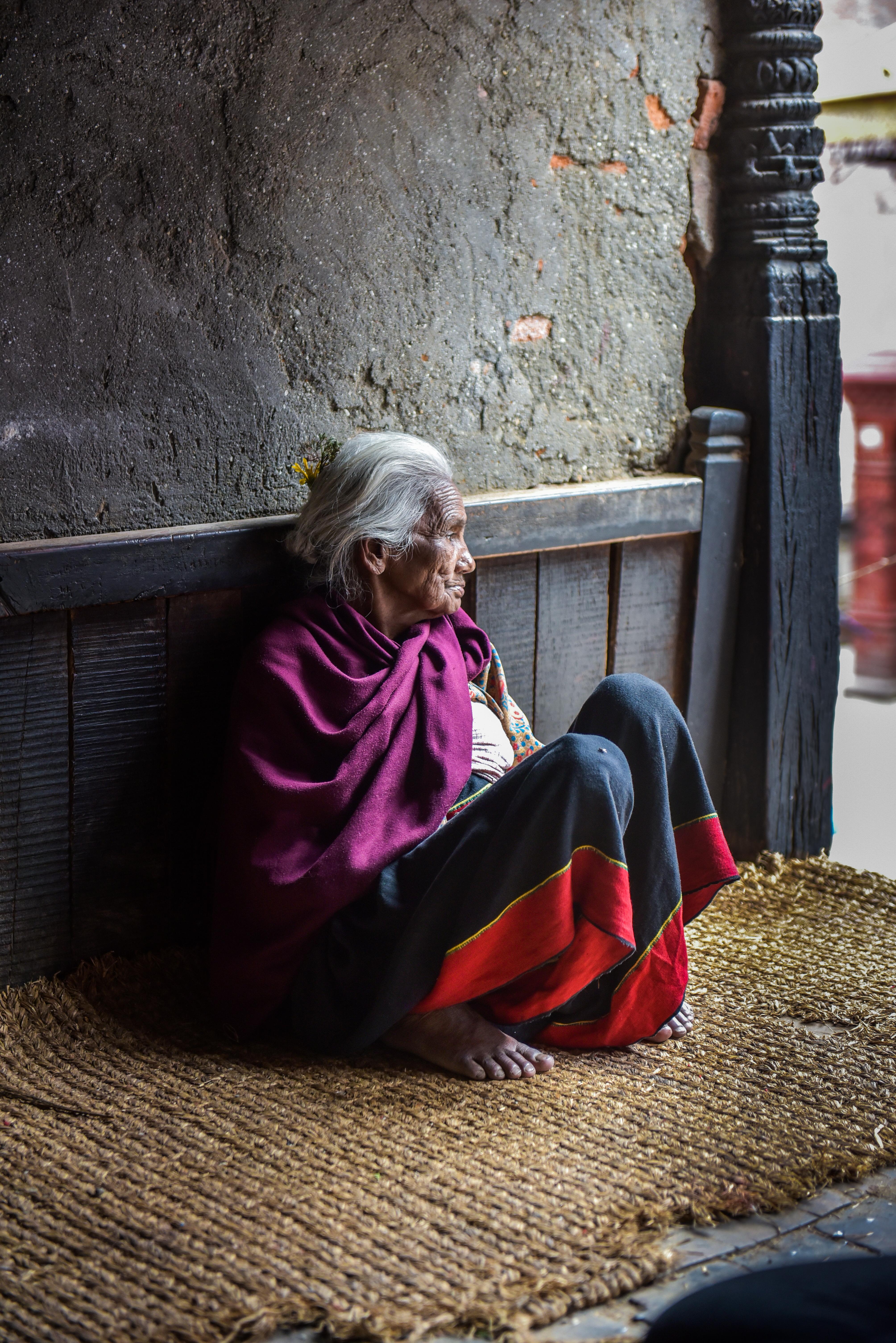 old women in Nepal