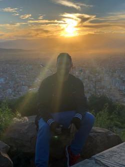 Flavio no Por de Sol Cochabambino.