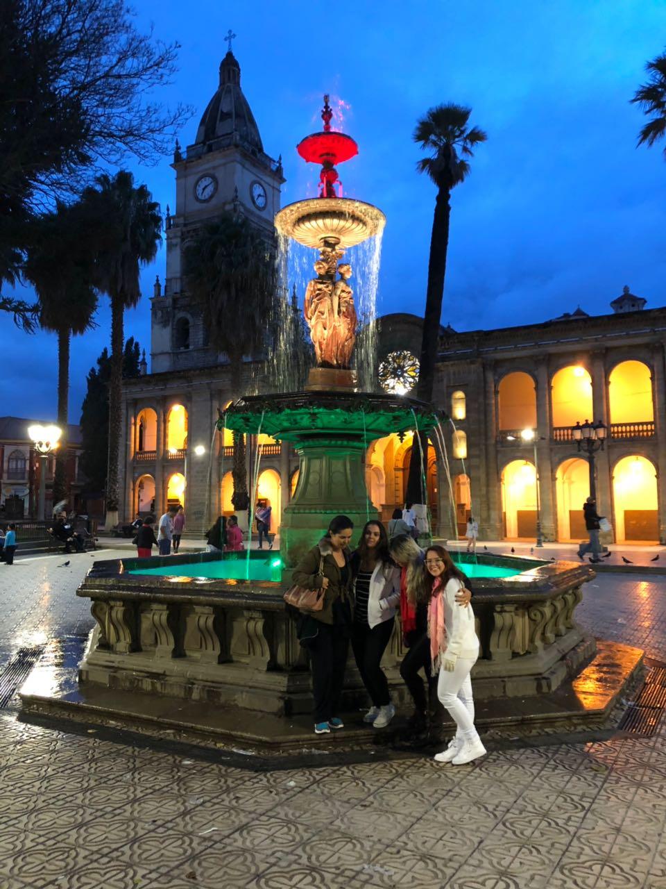 Assessoradas em Cochabamba.