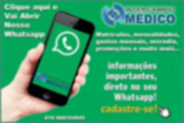 whatsApp Intercâmbio Médico