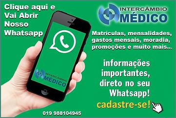 whatsApp Intercâmbio Médico