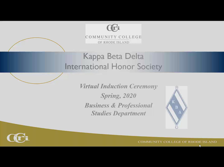 Community College of Rhode Island Virtual KBD induction