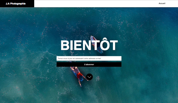 En Construction website templates – Photographie à venir