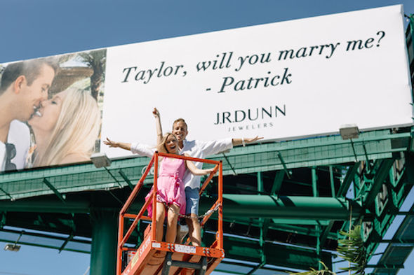 J.R. Dunn Jewelers Hosts Epic Billboard Proposal Giveaway