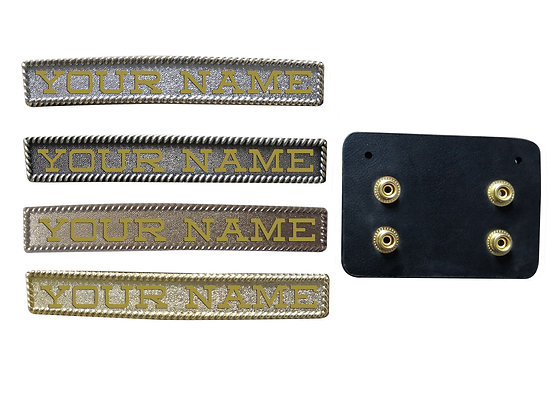 Custom Name Plate w/ Belt Hanger