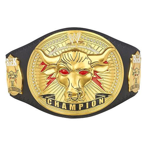 "The Rock ""Brahma Bull"" Replica Championship Title Belt"