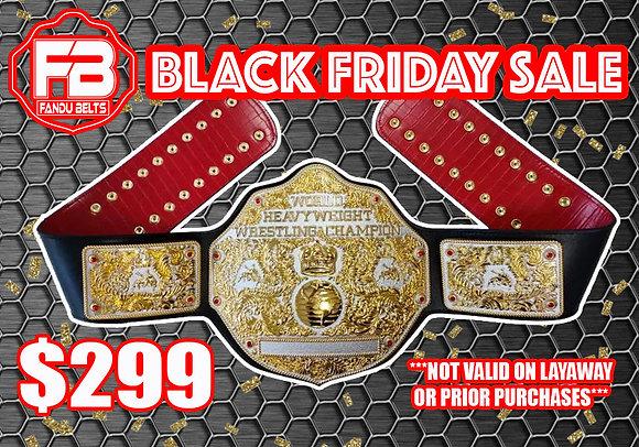 Dual Big Gold World Heavyweight Championship Belt