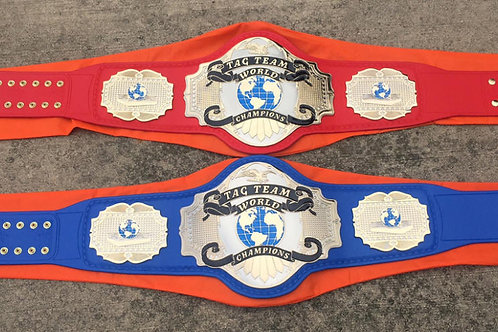 Red Pre-Owned Premier World Tag Team Championship