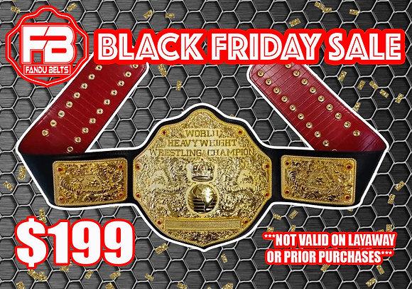 Imperfect Gold Big Gold World Heavyweight Championship Belt