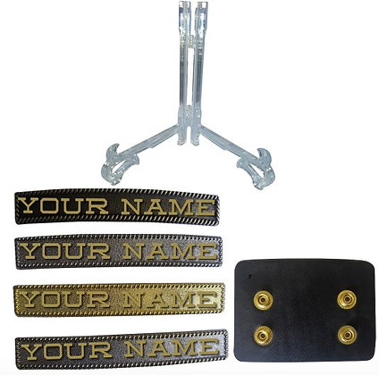 Custom Name Plate w/ Belt Hanger & Stand