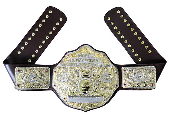 Dual Big Gold World Heavyweight Championship Belt
