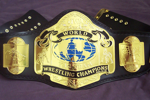 Pair of Pre-Owned MEGA DELUXE NWA CLASSIC TAG TEAM TITLE BELT