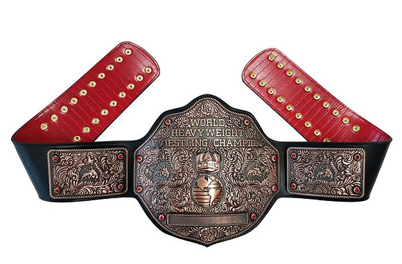 Copper Big Gold World Heavyweight Championship Belt