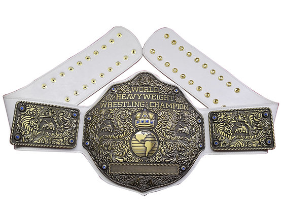 Antique Big Gold World Heavyweight Championship Belt