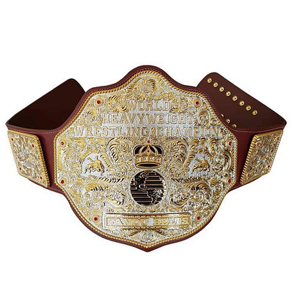 Dual Plated Big Gold World Heavyweight Championship Belt - LUXE EDITION