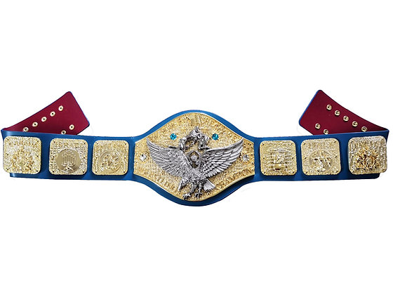 Gold with Silver Eagle Backlund Belt