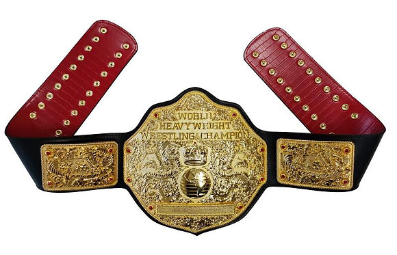Gold Big Gold World Heavyweight Championship Belt