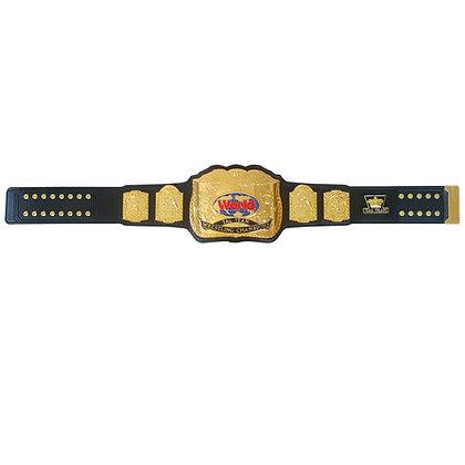 Gold Classic Tag Belt w/ Tooled Strap