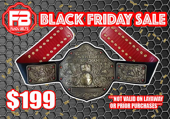 Imperfect Antique Big Gold World Heavyweight Championship Belt