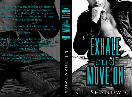 #COVERREVEAL - Exhale and Move On by K.L. Shandwick