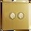Thumbnail: Interrupteur design Poussoir double Laiton Brossé