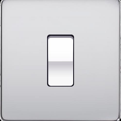 Interrupteur à bascule pour volet roulant Chrome