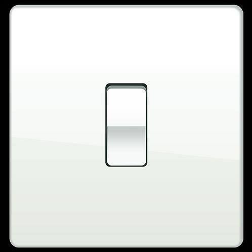 Interrupteur Design à Bascule Blanc Laqué