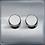 Thumbnail: Variateur Design Rotatif Double Acier Brossé