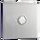 Thumbnail: Interrupteur design Poussoir Acier Brossé
