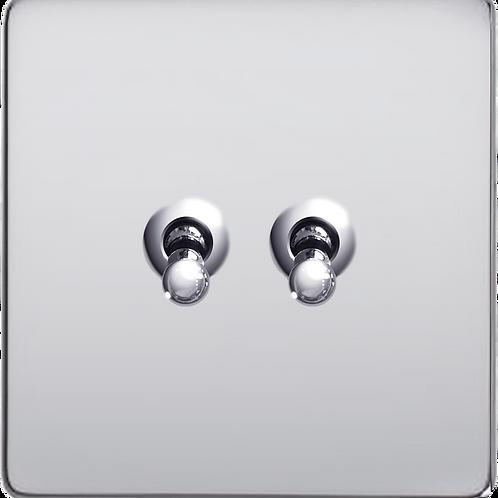 Interrupteur design Retro double Chrome