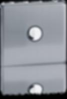 bouton poussoir design, interrupteur lumicrea haut de gamme, interrupteur poussoir luxe, interrupteur en acier coloris acrier brosse, interrupteur bouton poussoir telerupteur