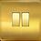 """Thumbnail: Interrupteur design """"Classic"""" double Laiton Brossé"""