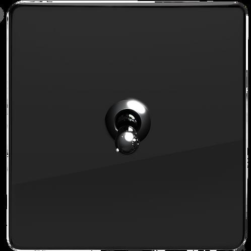 """Interrupteur design """"Retro"""" Noir Laqué"""