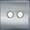 Thumbnail: Interrupteur design Poussoir double Acier Brossé