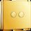 Thumbnail: Interrupteur design Poussoir double Laiton Poli