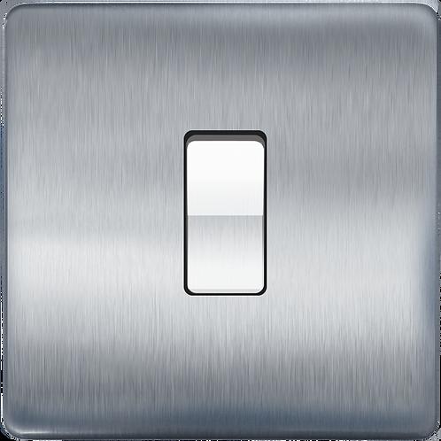 Interrupteur design à bascule Acier Brossé