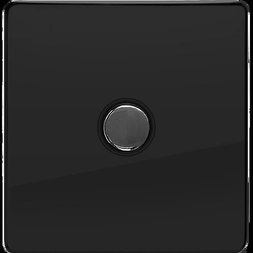 Interrupteur design Poussoir Noir Laqué