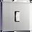 Thumbnail: Interrupteur design à bascule Acier Brossé