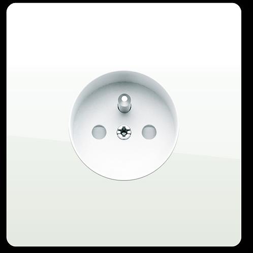 Prise de courant design simple Blanc Laqué