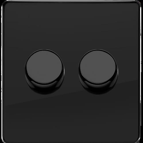 Variateur Design Rotatif Double  Noir Laqué