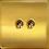 """Thumbnail: Interrupteur design """"Retro"""" Double Laiton Brossé"""