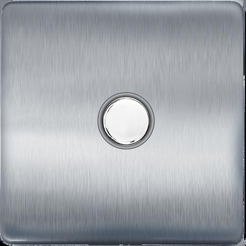 Interrupteur design Poussoir Acier Brossé