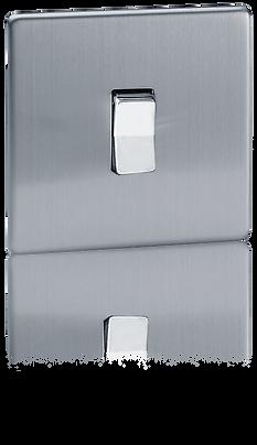 interruteur volet roulant design, interrupteur avec plque en acier coloris acier brosse
