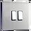 """Thumbnail: Interrupteur design """"Classic"""" Double Acier Brossé"""