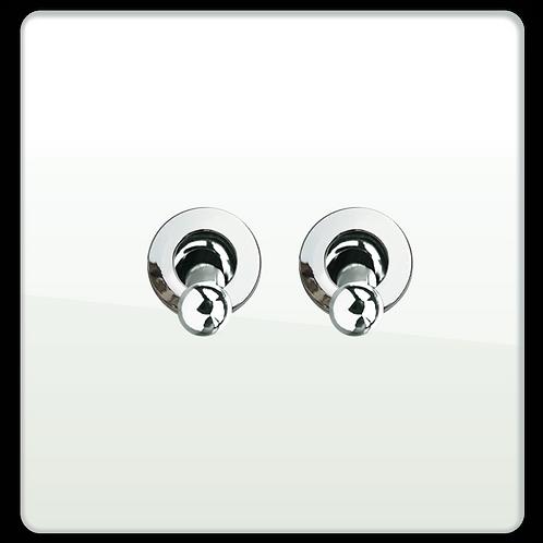 """Interrupteur design """"Retro"""" Double Blanc Laqué"""