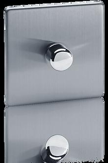 variateur rotatif design, interrupteur variateur design sur plaque en acier  brossé