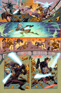Star Wars - Clone Wars Sample Pages 3-6