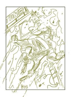 Sketch_Superman Blue Card 2