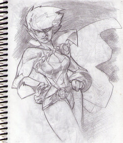 Power Girl Sketch