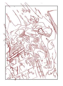 Sketch_Superman Blue Card 1